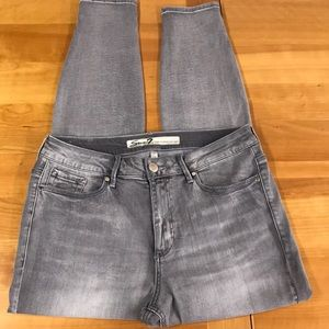 Seven 7 high rise skinny gray jeans 12